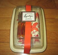 Rare Max Factor Hypnotique Set Cologne Perfume + Powder W/ English Tea Tray