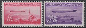 LIECHTENSTEIN-YVERT-AIR-POST-15-16-034-ZEPPELINS-1936-034-MNH-VVF-RARE-N253