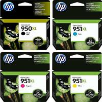 4-pack Hp Genuine 950xl Black & 951xl Color Ink (no Retail Box) Officejet 8620
