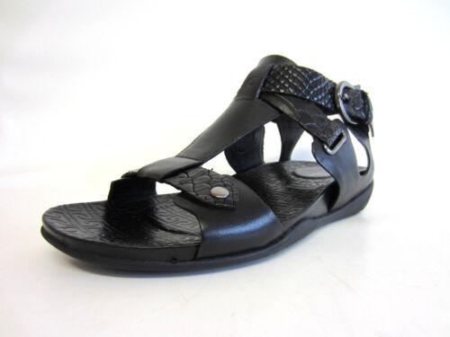 Rockport K60575 Femmes Noirs Plats T Strap Sandal R4A