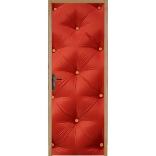 Padded door wallpaper red 313