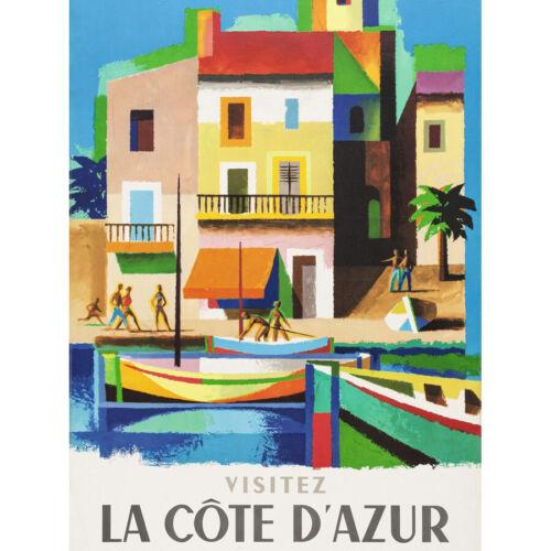 Cote d /'Azur Ferrocarril de viaje visita de Nathan anuncio Enmarcado Pared Arte Cartel