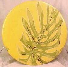 Silvestri Tropical Leaf Dinner Plate April Cornell Yellow Green Elephant Ear