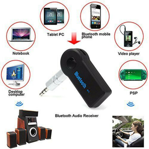 Bluetooth 3.0 Car Audio Music Receiver with Handsfree Function Mic USB Cable Kit
