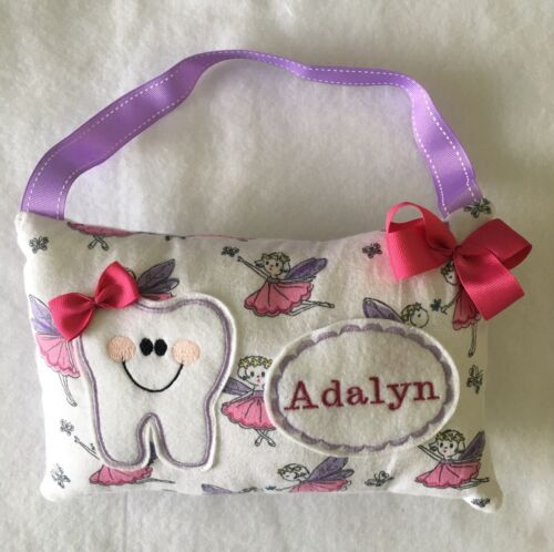 Handmade Boy or Girl Tooth Fairy Pillow Fast Shipping Personalized