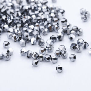 1000pcs 2 3 4mm Austria Glass Crystal Bicone Loose beads 5301 DIY ... 786fb5ac18d0