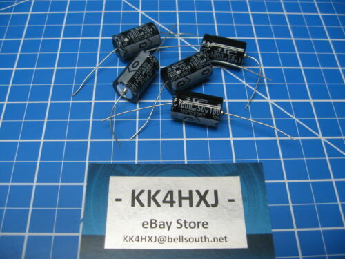 GHA Series SC Brand 1000uF 50V Axial Electrolytic Capacitors lot of 5