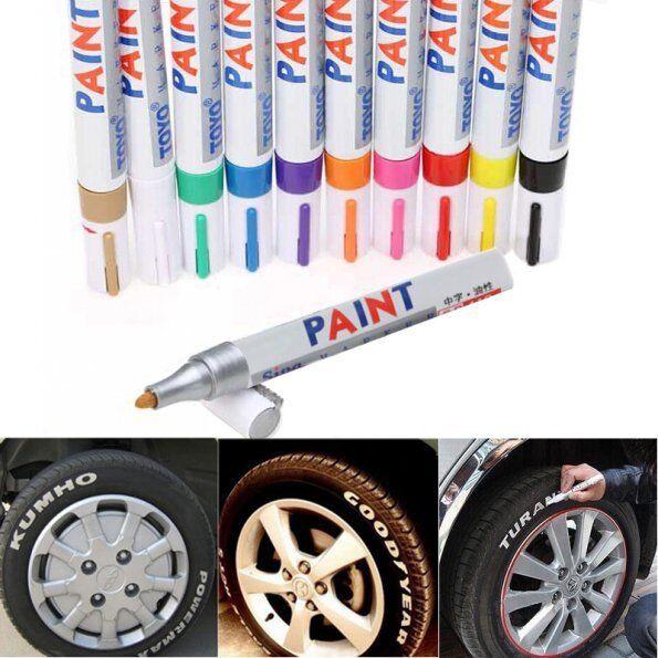 Paint Marker Pen Tire Rubber Metal Glass Wood Stone Waterproof Oil Pen CBAU
