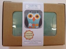 Retro Owl Cushion Craft Kit - Make Your Own - Wool Felt Sewing - Home Sew Gift
