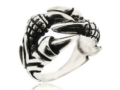Mens Antique Vintage Biker 925 Sterling Silver Black