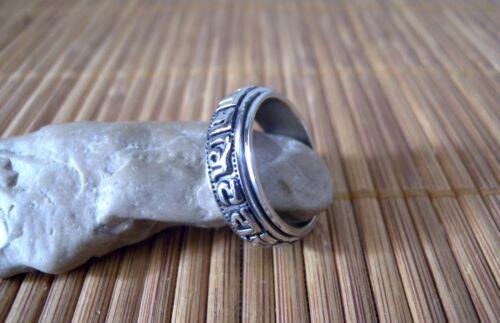 Anello Unisex in Acciaio Inox Girevole Rune Celtiche Magiche Vikings Vichingo