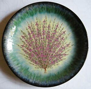 Confiant Assiette Ceramiqe Quimper Decor Main Genets Par L. Nedelec