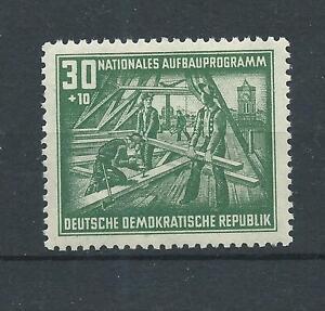 DDR-1952-postfrisch-Aufbauprogramm-Dachstuhlbau-MiNr-305-30-10-Pfennig