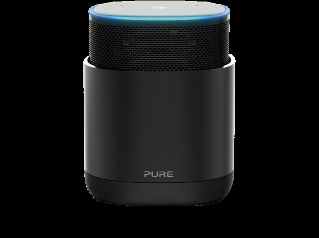 PURE DiscovR - Smarter-Lautsprecher (App-steuerbar, Bluetooth Schwarz)