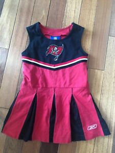 4c3ce6ab Details about Toddler Girls Tampa Bay Buccaneers 4T Cheerleader Cheer  Outfit Dress (Red) NFL T