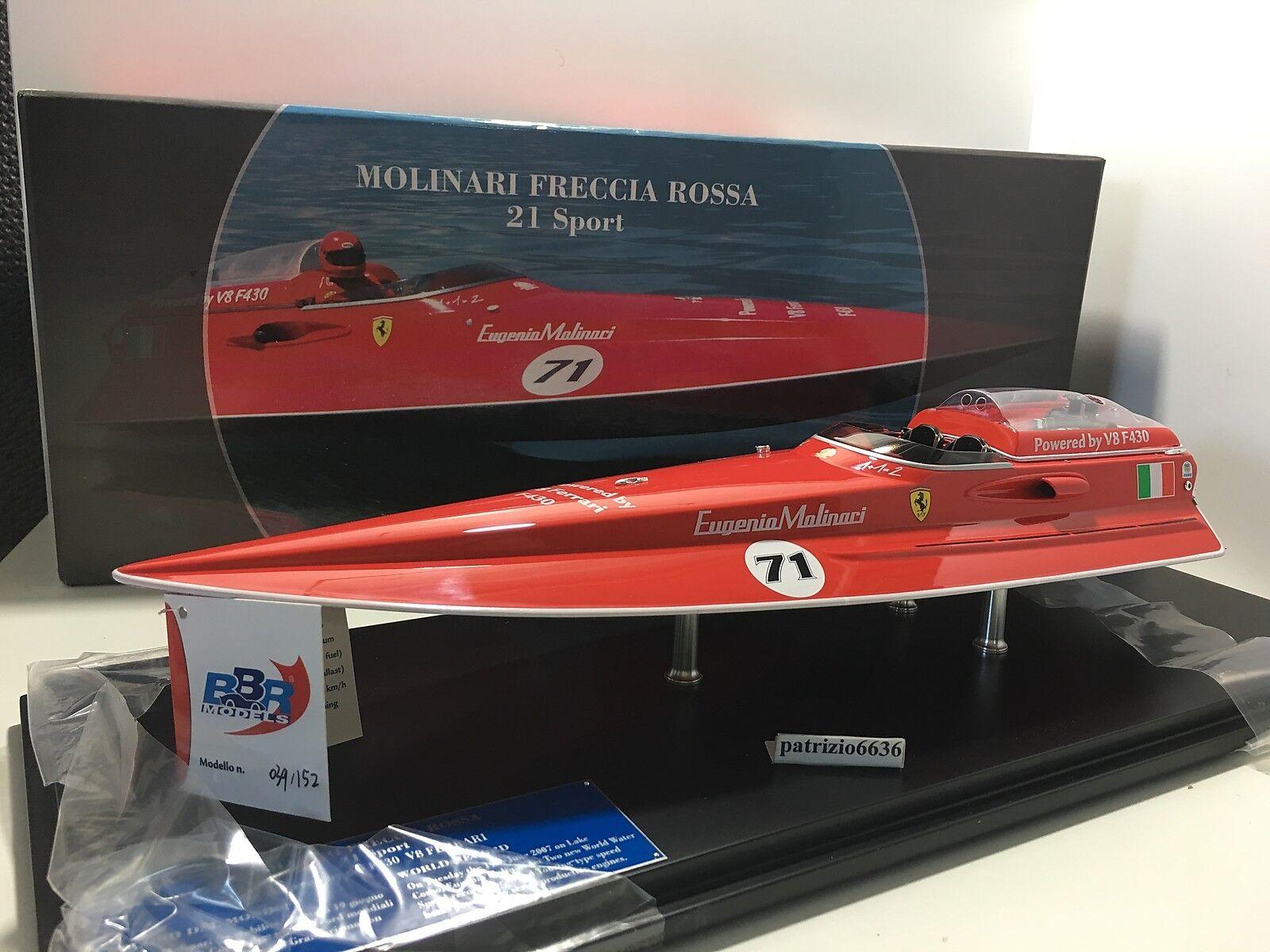 BBR1/18 Motoscafo Boat Freccia Rossa 21 #71 E. Molinari Engine Ferrari FER001B2D