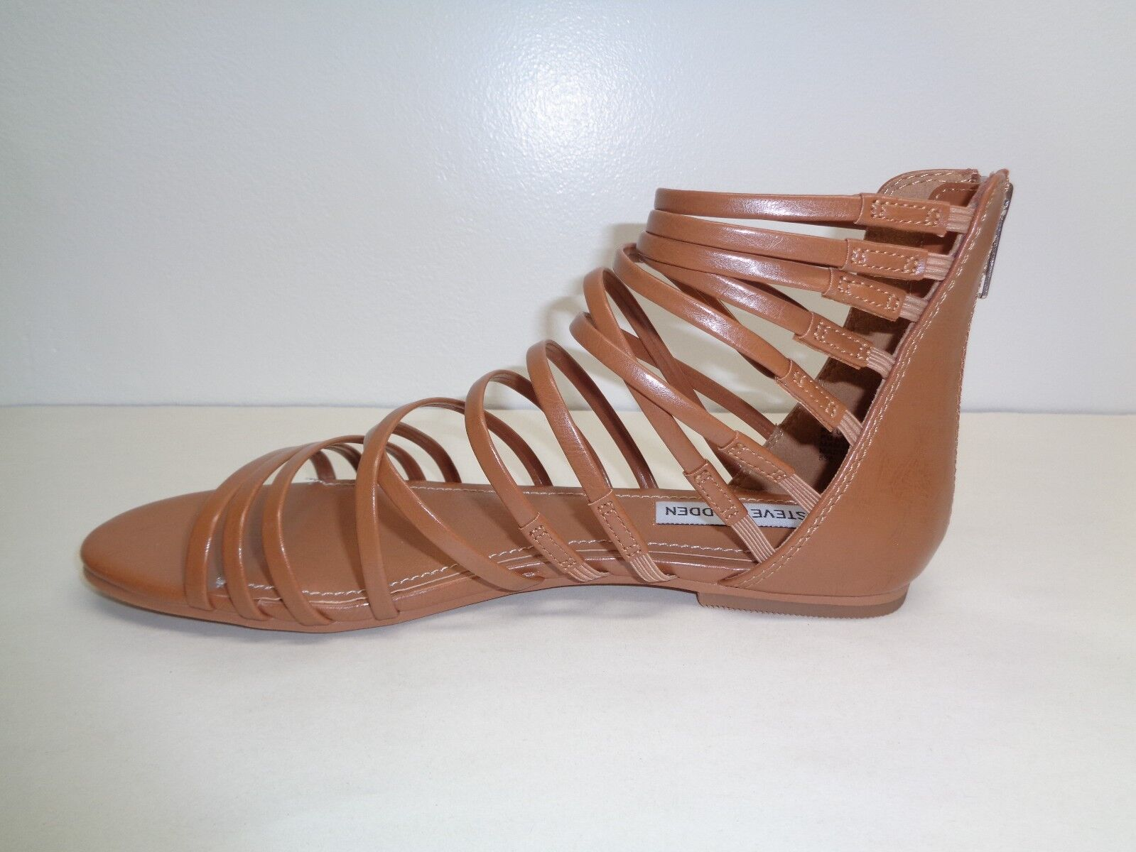 Steve Madden Womens Kirsten Tan Platform Sandals Shoes 9 Medium BHFO 6380 B,M
