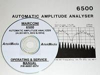 Marconi 6500 Analyzer Operator & Service Manual