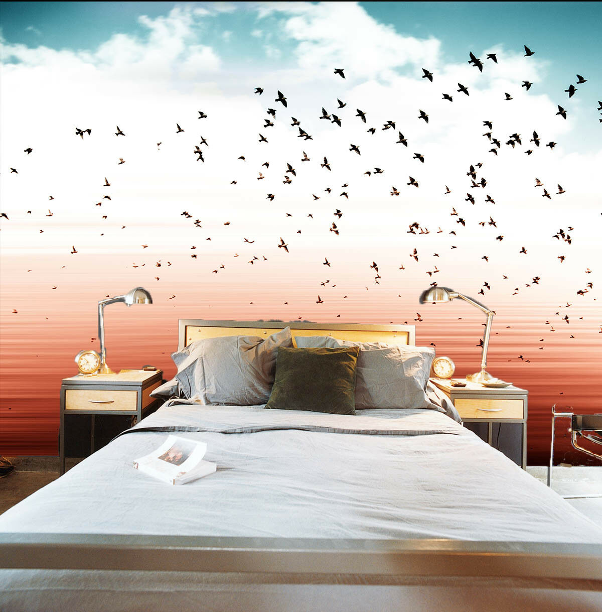 3D Sand  Sky Birds 45 Wall Paper Wall Print Decal Wall Deco Indoor Wall Murals