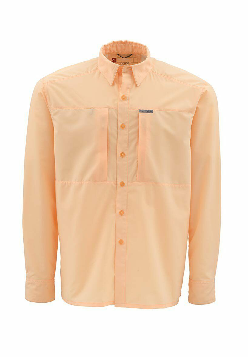 Simms ULTRALIGHT Long  Sleeve Shirt  Apricot NEW  Closeout Size Medium  all goods are specials