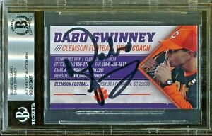 Dabo-Swinney-Clemson-Coach-Signed-Business-Card-Autograph-Beckett-BAS-Auto-97