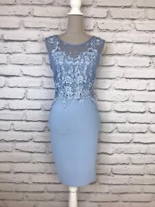 LIPSY-Pale-Blue-Lace-Detail-Sleeveless-Bodycon-Occasion-Party-Dress-UK-12