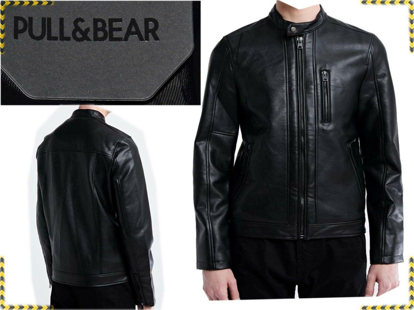 ZARA Group PAUL & BEAR Jacket Man 100 % eco-Leather M or...