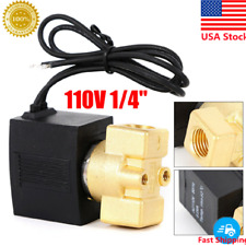 Electric Solenoid Valve Brass 14 Pneumatic Valve For Water Oil Air Gas Fuels