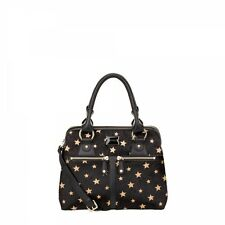BRAND NEW MODALU PIPPA MINI BLACK STARS MIX LEATHER GRAB BAG HANDBAG