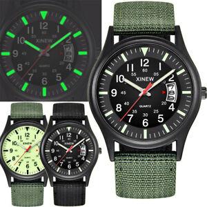 Men-039-s-Nylon-Strap-Band-Watch-Men-Boy-Military-Army-Date-Quartz-Wrist-Watch-Gift