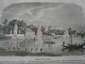 Gravure-1857-Calcutta-la-ville-Indienne