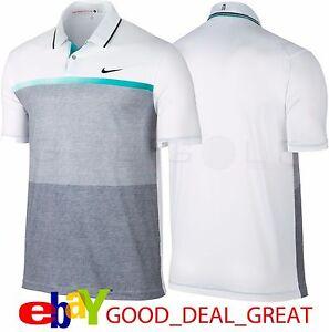 94e87213 New Nike Tiger Woods TW Mobility Print Golf Polo Shirt 707712-100   eBay