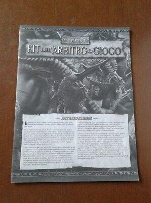 Warhammer Fantasy Role Playing - Kit Dell'arbitro Di Gioco Italiano No Copertina Calcolo Attento E Bilancio Rigoroso