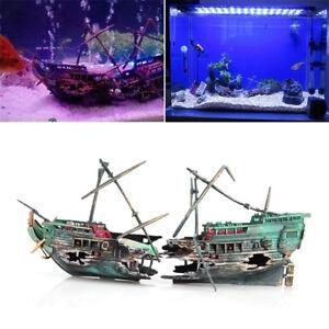 Large-Aquarium-Decor-Wreck-Sunk-Ship-Aquarium-Plactic-Boat-9-36-039-039-4-68-039-039-NP2