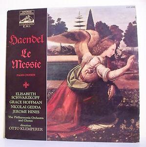 33T-HAENDEL-Vinyl-LP-THE-MESSIE-SCHWARZKOPF-HOFFMAN-GEDDA-Organ-Ange-VOIX-M-2029