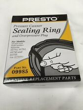 Presto 09985 Pressure Cooker Gasket Sealing Ring & Over Pressure Plug Genuine