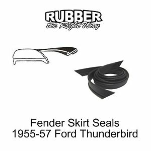 1955-1956-1957-Ford-Thunderbird-Fender-Skirt-Seals-PAir-R-amp-L