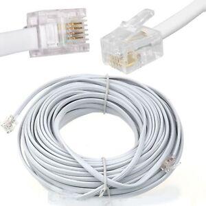 20m meter rj11 to rj 11 adsl broadband internet router. Black Bedroom Furniture Sets. Home Design Ideas