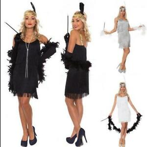 Image Is Loading 1920s Suspender Beaded Fringed Great Gatsby Dress Por