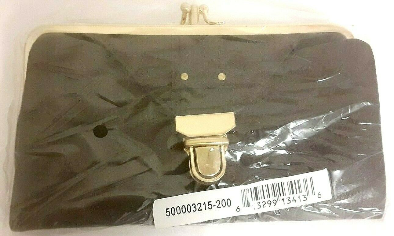 New sealed Rolfs Signature Dark Brown Woman Wallet Clutch coin purse clasped VTG