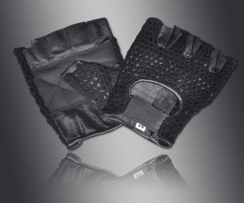 BRAND NEW MESH WEIGHT LIFTING PADDED LEATHER GLOVES FOR TRAINING CYCLING GYM