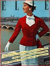 ▬►Elle 390 (1953) Madeleine Renaud_Jean-Louis Barrault_ Mode Fashion Hte Couture