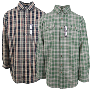 Carhartt-Men-039-s-Beige-Plaid-L-S-Woven-Shirt-XL-3XLT-Retail-45