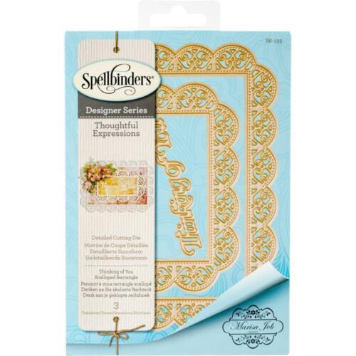 Spellbinders Designer Series Die ~ THINKING OF YOU ~ S6-135 ~ Marisa Job