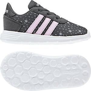 Detalles acerca de Adidas Chica Zapatillas para Correr Lite Race Cln Infantil Entrenamiento de
