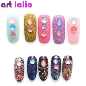 3d Sweet Candy Color Nail Art Beads Decoration Shiny Foil Gems Pearl