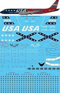 """26 Decals 1/144 Ona Bicentennial """"Confederado"""" Douglas DC-8-21 #STS44331"""
