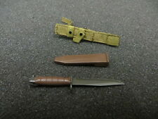 DAM Toys 1/6 Toy USMC RECON BAT. M27 RIFLEMAN KaBar Knife W/ Sheath