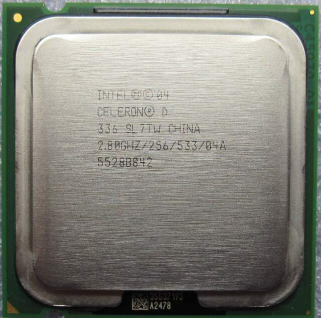 Intel Celeron D 336 CPU 256K Cache / 2.80 GHz / 533 MHz FSB Processor SL7TW