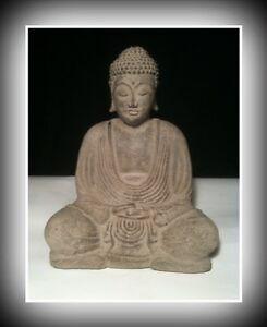 Tibetan & Japanese Style Amitaba Stone Buddha - Made from Volcanic Ash
